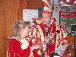 Oliver I. und Michaela I. begrüßen die anwesenden Ehrengäste