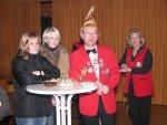 Interessierte Zuhörer - Ann-Kathrin Taggeselle, Ex-Linderprinzessin Lisa I. - Werner Blumenstein, Ex-Prinzessin Ute Kuhn