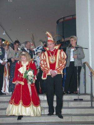 Defelieren für den Ministerpräsidenten Roland Koch - Prinz Oliver I. und Prinzessin Michaela I.