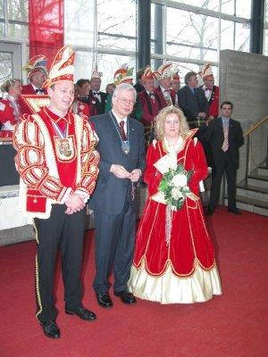 Das Prinzenpaar und der Ministerpräsident