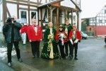 Gemeinsam mit dem HR warten Sitzungspräsident Klaus Missing, Prinz Hans-Jürgen I. und Prinzessin Ute I., sowie das Kinderprinzen