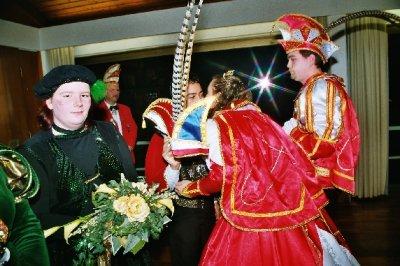 Ordensverleihung an Prinzessin Sandra I. und Prinz Lars I. vom Carnevalsclub Elgershausen.