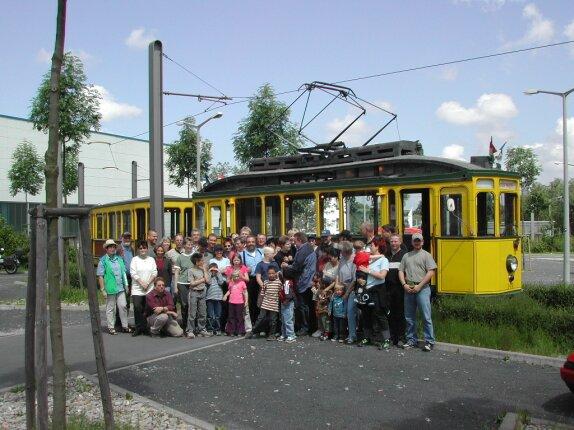 Kurz vor der Abfahrt mit der Historischen Straßenbahn ab Kaufungen-Papierfabrik.