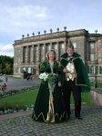 Das Prinzenpaar vor dem Schloß Wilhelmshöhe in Kassel