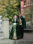 Das Prinzenpaar am Niester Dorfbrunnen in der Bergstraße