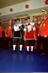 Singende Bürgermeister - Niestes Bürgermeister Edgar Paul und Frankenhains Bürgermeister Peter Pabst.
