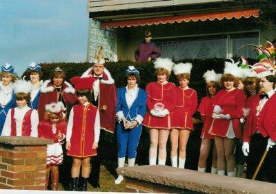 Abholung Prinzenpaar zum Rathaussturm 1984