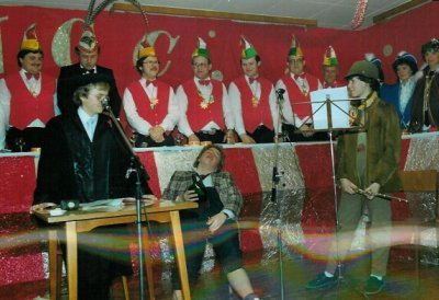 Sketch Musikverein 1984 - Oliver Pick, Klaus Missing und Stephanie Leck