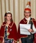 Erste Amsthandlung des neuen Kinderprinzenpaares Prinz Nicolas I. und prinzessin Michelle II.