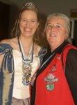 Mutter und Tochter - Inge Licht mit Tochter Andrea, Prinzessin des NCC Blau-Weiß aus Niestetal